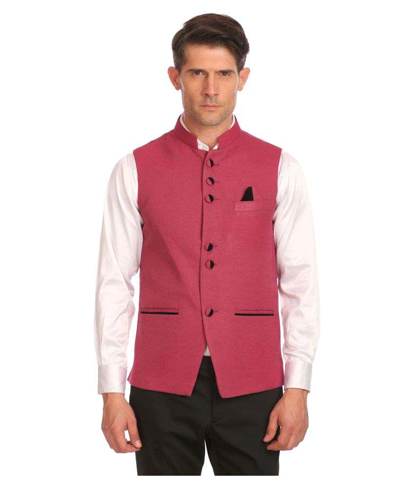 Wintage Pink Printed Festive Blazers