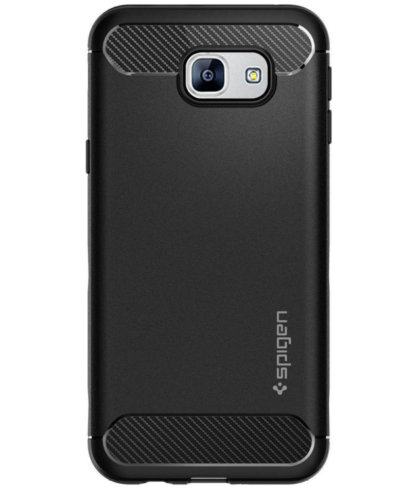 detailed look 1e3f5 1923b Spigen Galaxy A8 (2016) Case Rugged Armor Black 568CS20998 - Plain ...