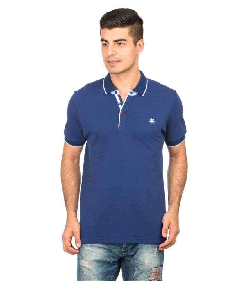 Zeven Blue Regular Fit Polo T Shirt