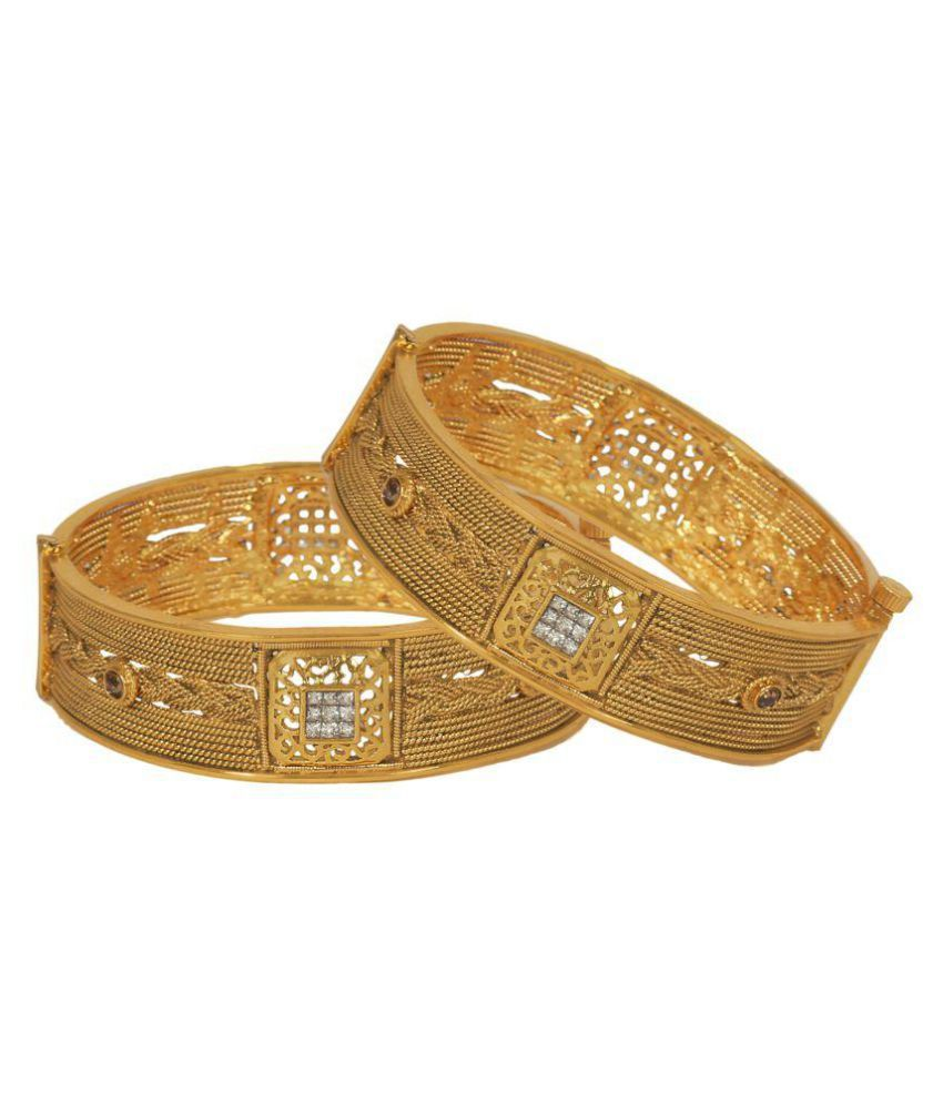 Jewels Gehna Golden Bangle Set