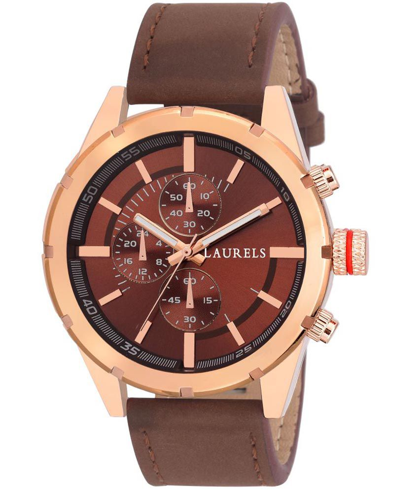 3ab59f1cafd08 Laurels Lo-Crn-050906 Brown Leather Watch - Buy Laurels Lo-Crn-050906 Brown  Leather Watch Online at Best Prices in India on Snapdeal