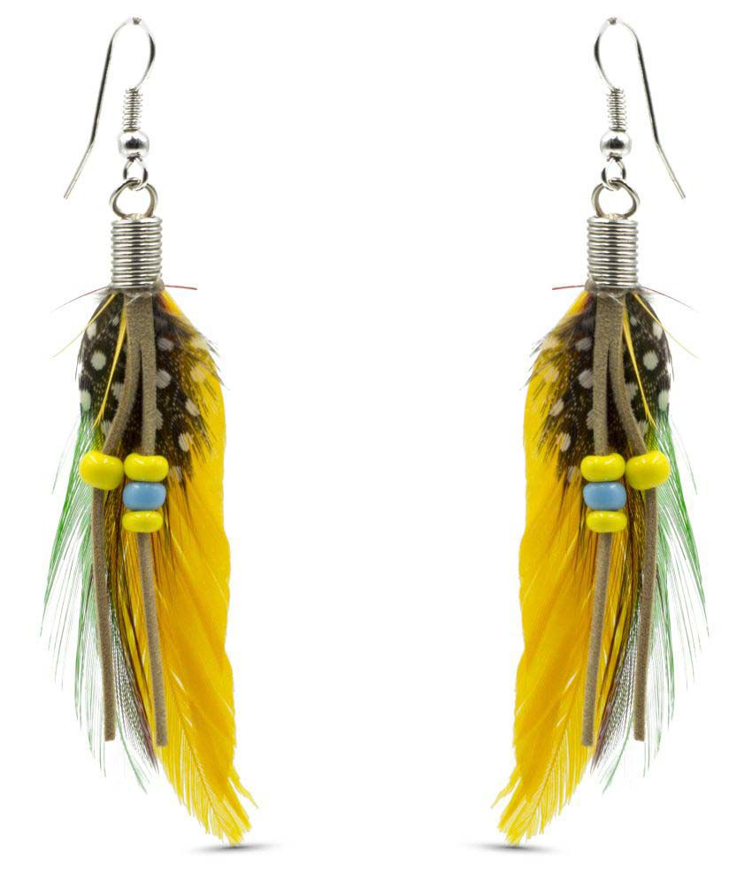 Three Shades Multicolour Hangings Earrings
