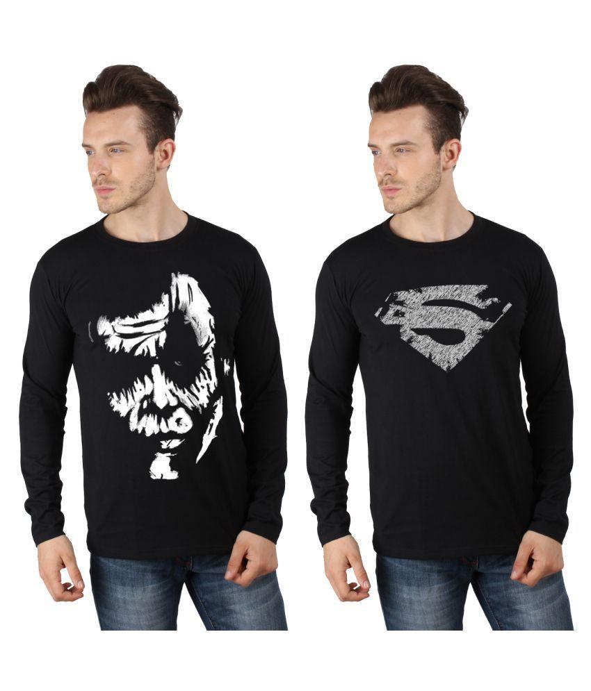 SayItloud Black Round T-Shirt Pack of 2