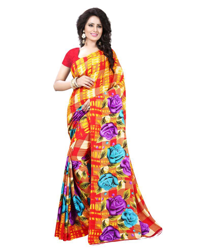 Maroosh Multicoloured Georgette Saree