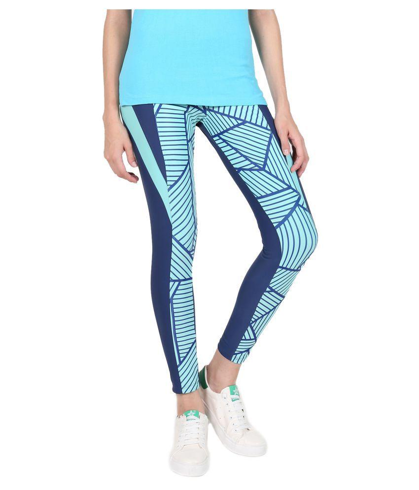 Yogue Blue Printed Leggings