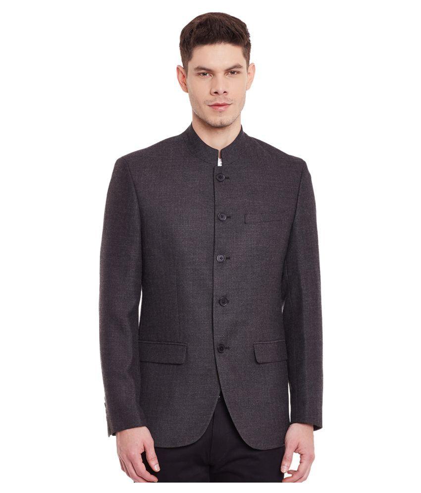 Envoy Black Plain Wedding Blazers