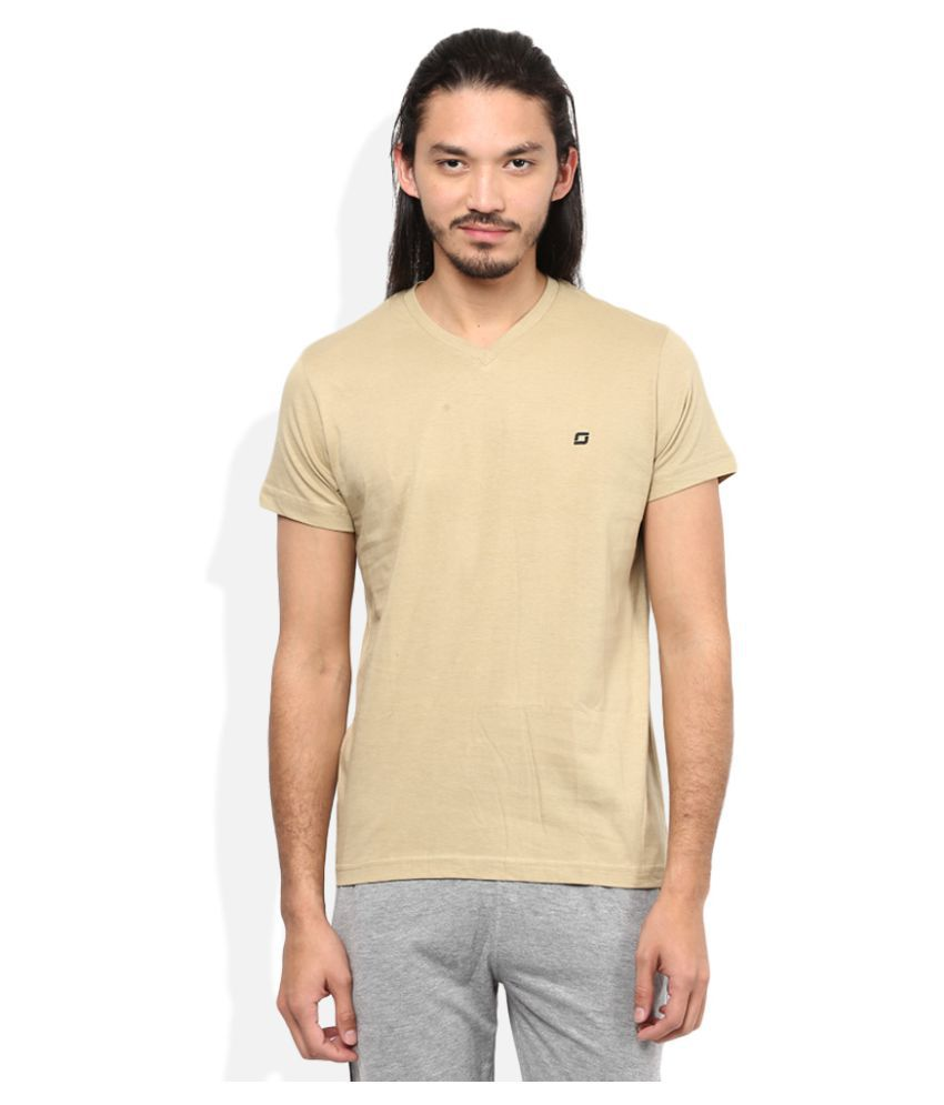 SDL By Sweet Dreams Beige V-Neck T-Shirt
