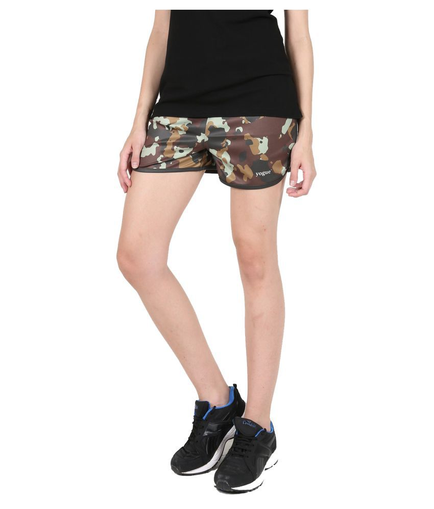 Army Printed Running Shorts