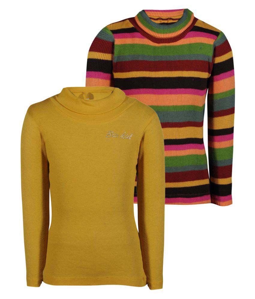 Bio Kid Multicolor Girl's Sweatshirts- Pack of 2