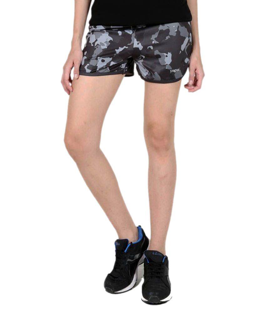 Grey Printed Running Shorts