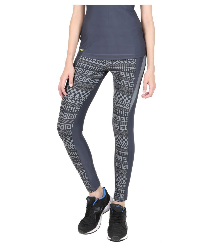 Yogue Grey Printed Leggings