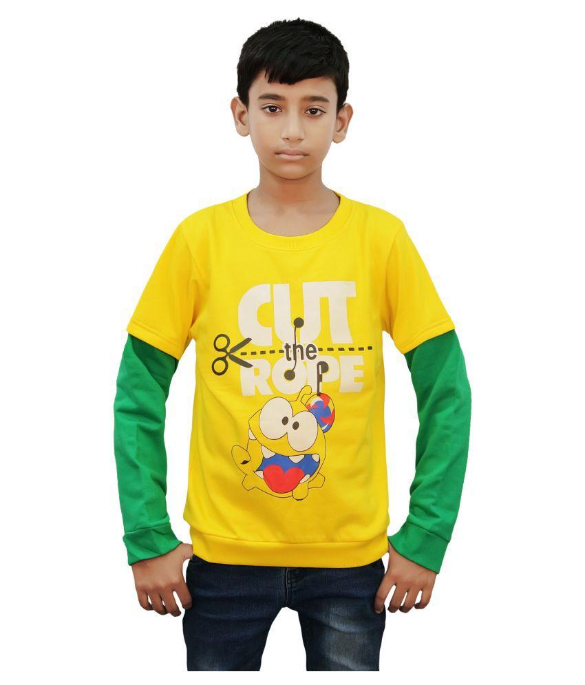 Kothari Yellow Cotton Sweatshirt