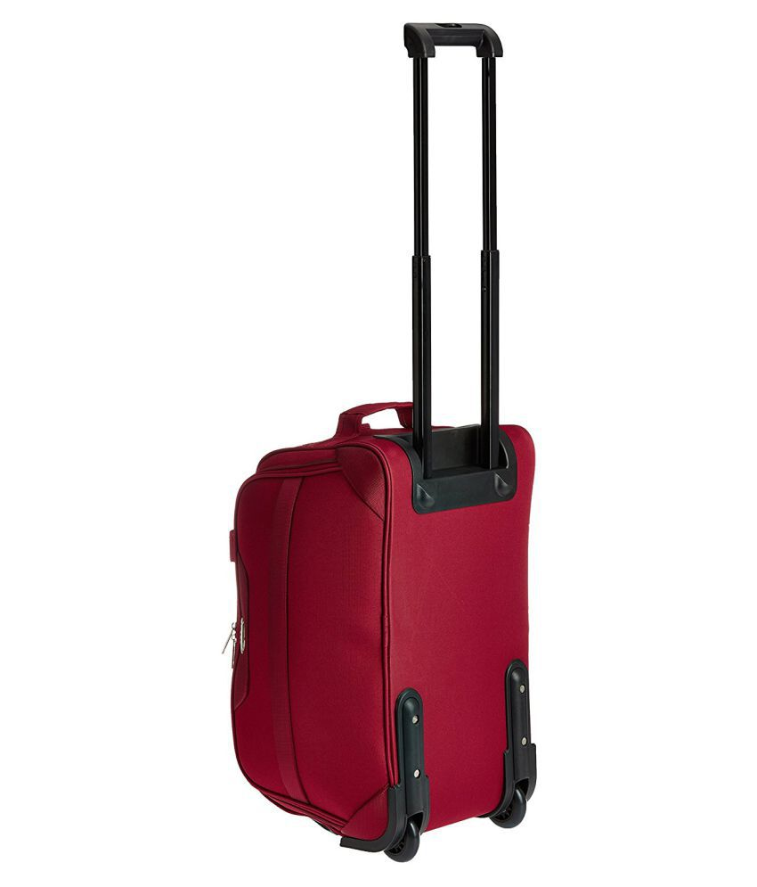 3d79aaff0 Pronto Solid two wheels Duffle Bag with inside trolley Maroon - Buy ...