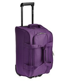 Pronto Purple Solid Duffle Bag with trolley