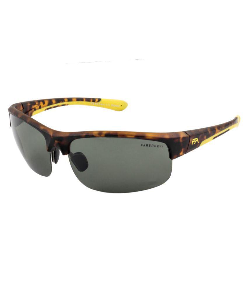Farenheit Green Wrap Around Sunglasses ( 1352P-C4 )