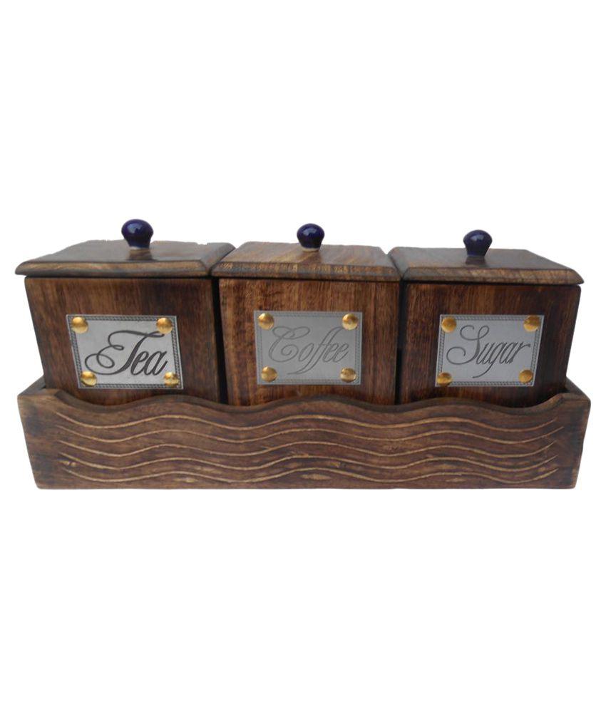 Handicraft Wooden Condiment Set 3 Pcs