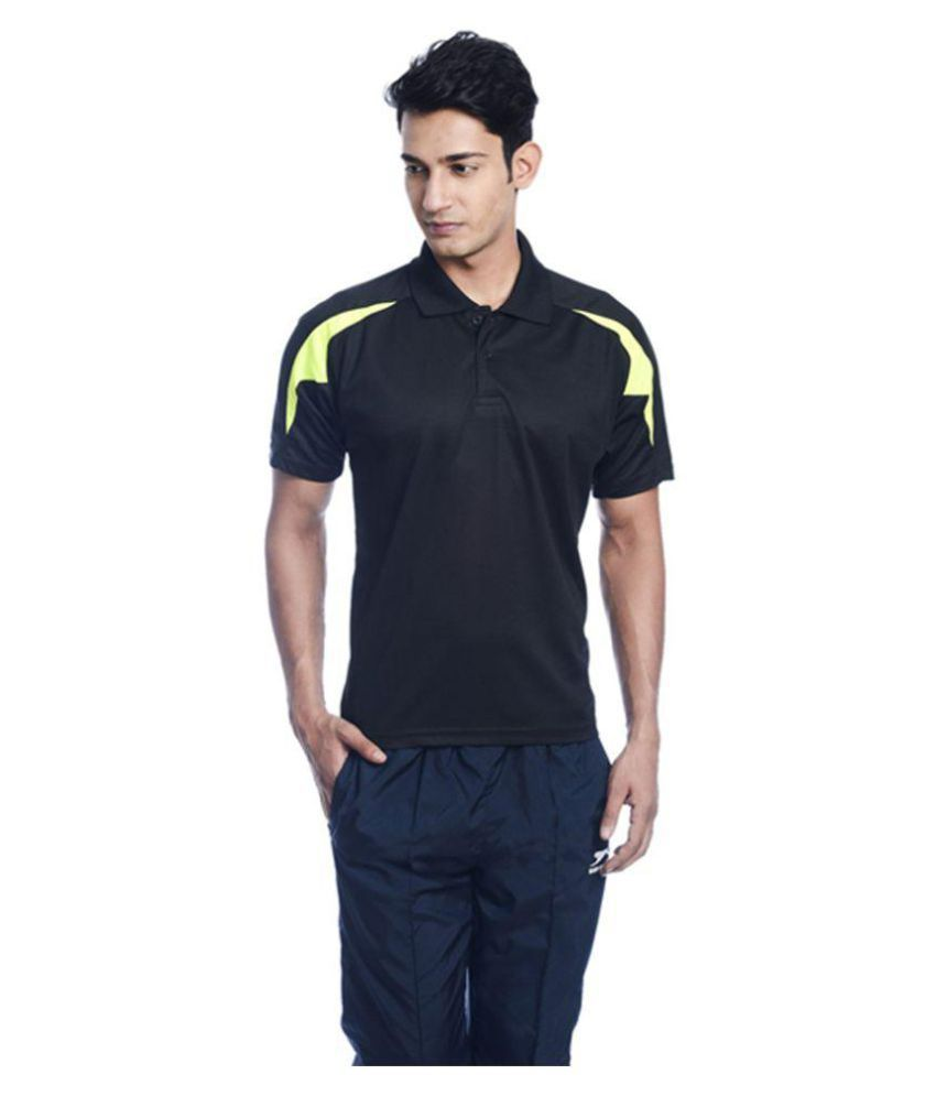 Shiv Naresh Black Polyester Polo T-Shirt Single Pack