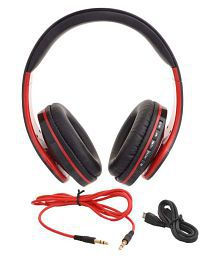SVR IN 916 Over Ear Wireless Headphones Without Mic Red
