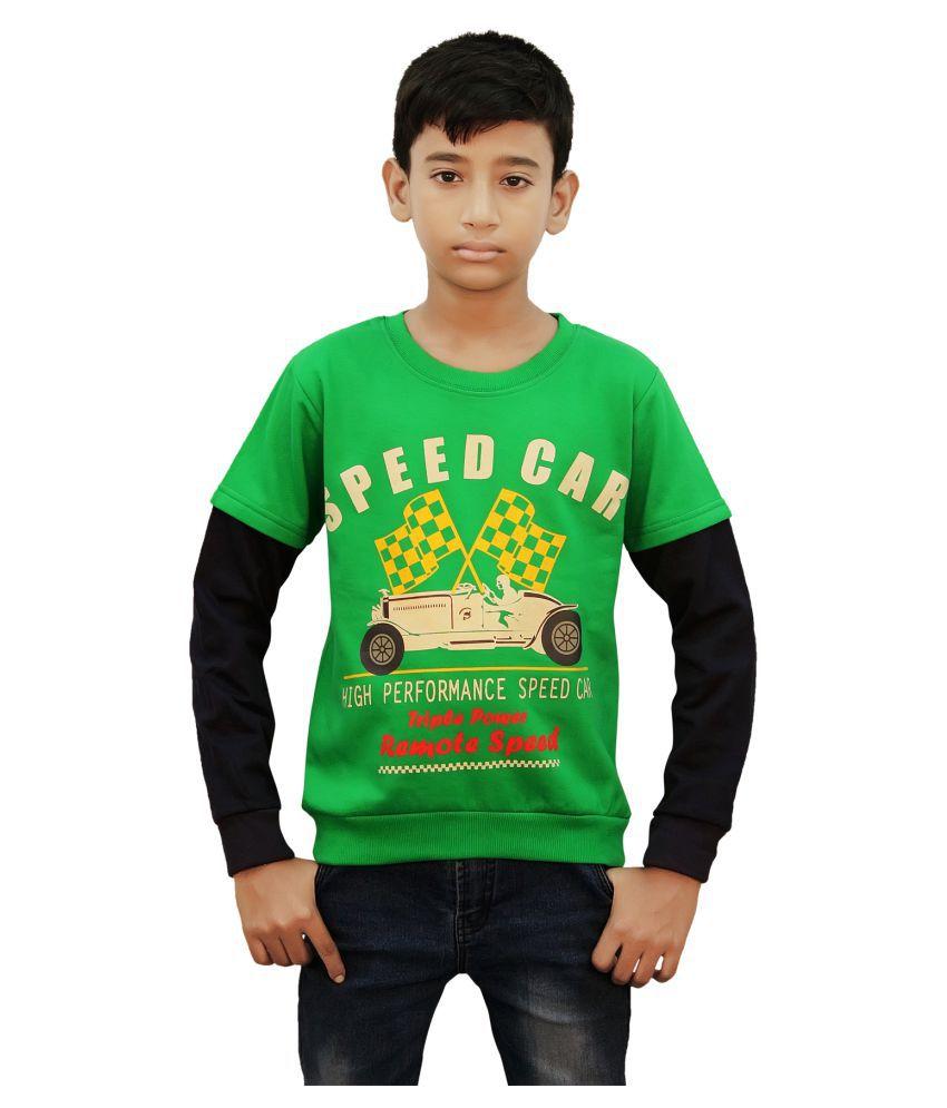 Kothari Boy's Green Fleece Sweatshirt