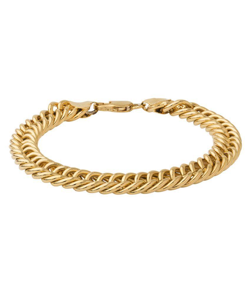 Dare Golden Brass Bracelet