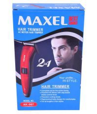 Maxel AK-007 Beard Trimmer ( Red )