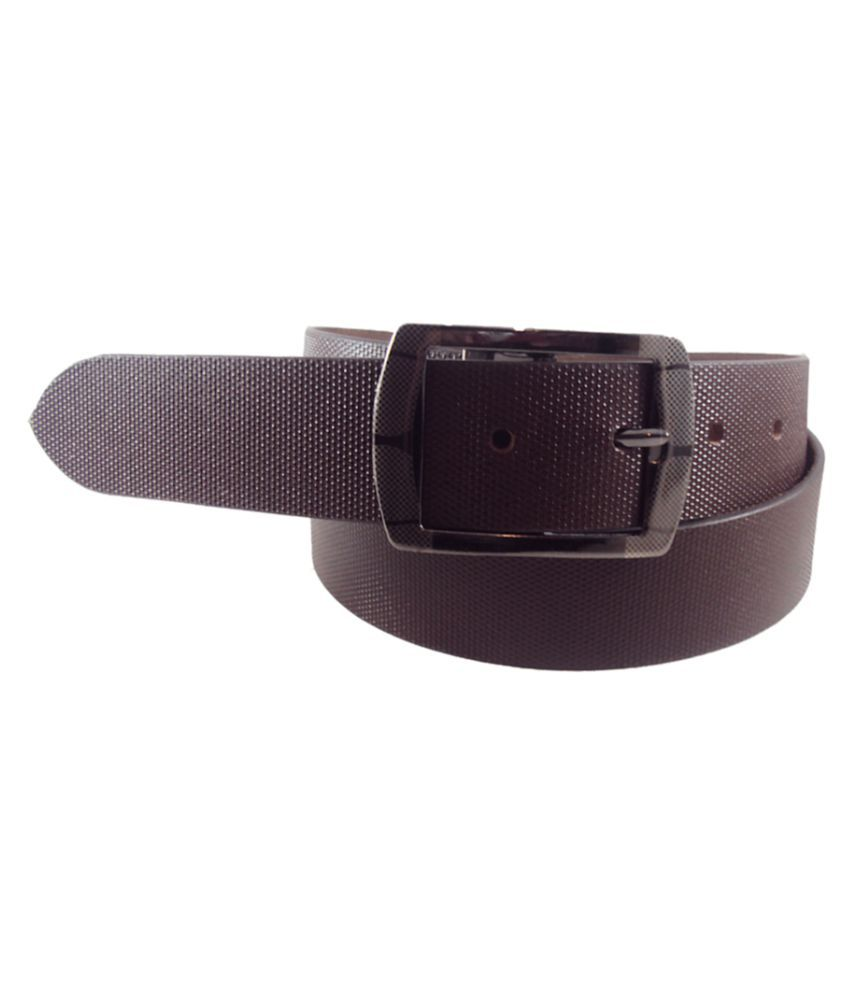 National Leathers Brown Leather Formal Belts