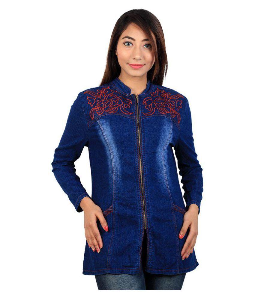 Buy cherry clothing denim band jacket online at best for Buy denim shirts online