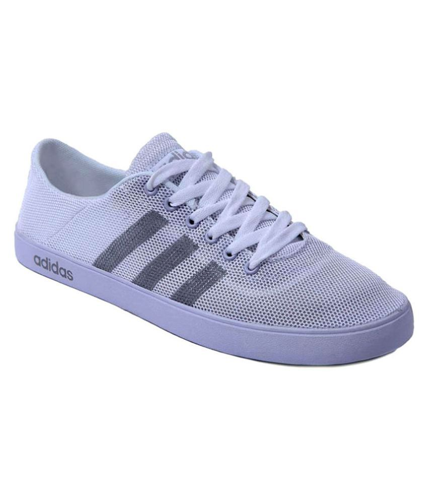 1082d78cbb56 Adidas Neo White Casual Shoes - Buy Adidas Neo White Casual Shoes Online at  Best Prices in India on Snapdeal