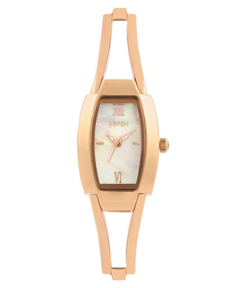 Aspen Golden Brass Analog Watch