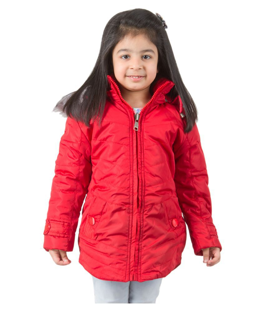 Burdy Red Quilted Jacket