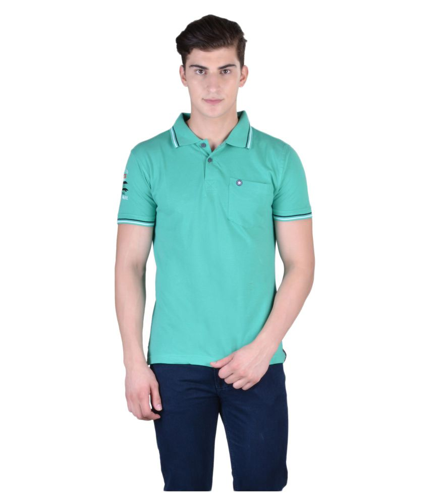 Force Go Wear Light Green Cotton Polo T-Shirt Single Pack