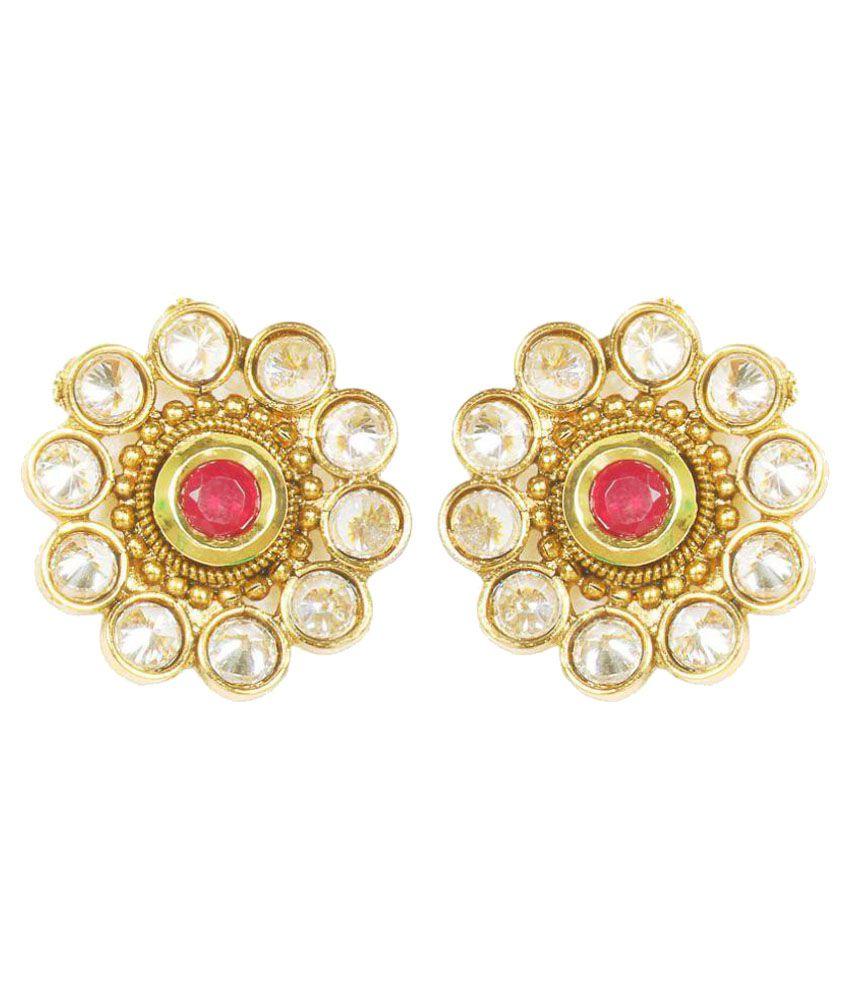 Jewels Gold Multicolor Earrings