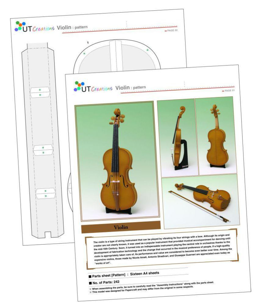 U T Creation Violin Decoration Item