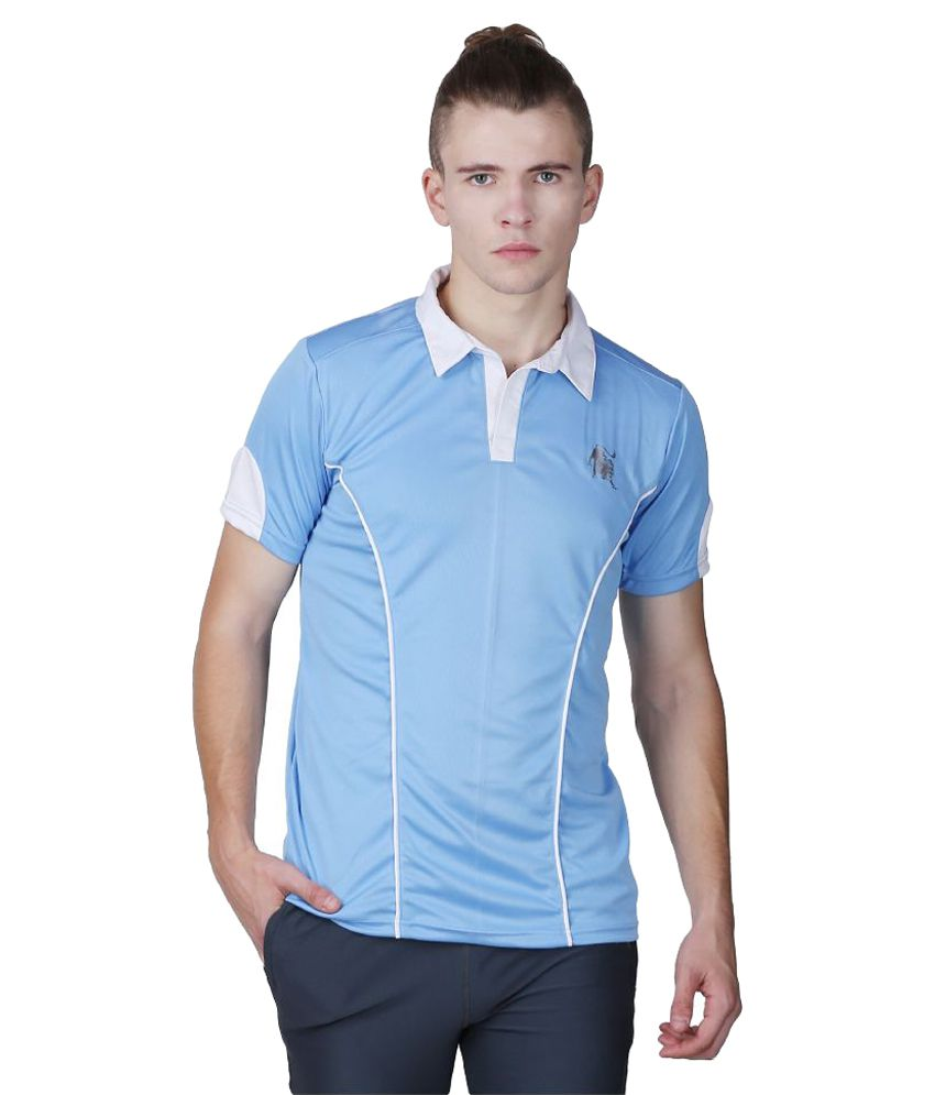 L'appel Du Vide Blue Polyester Polo T-Shirt Single Pack