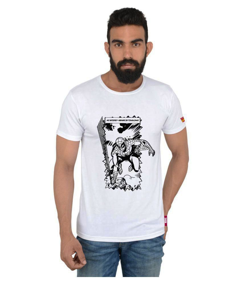 Marvel White Round T-Shirt