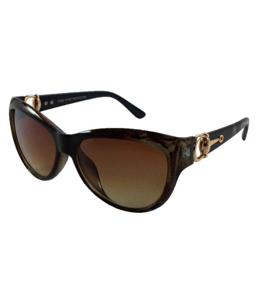Juria Brown Bug Eye Sunglasses ( 91502-tgrprnt )