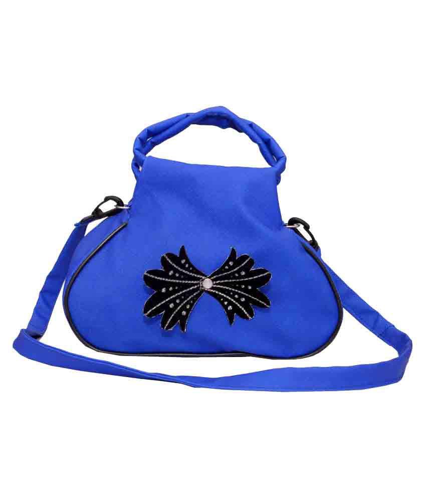 BB Enterprises Navy Artificial Leather Sling Bag