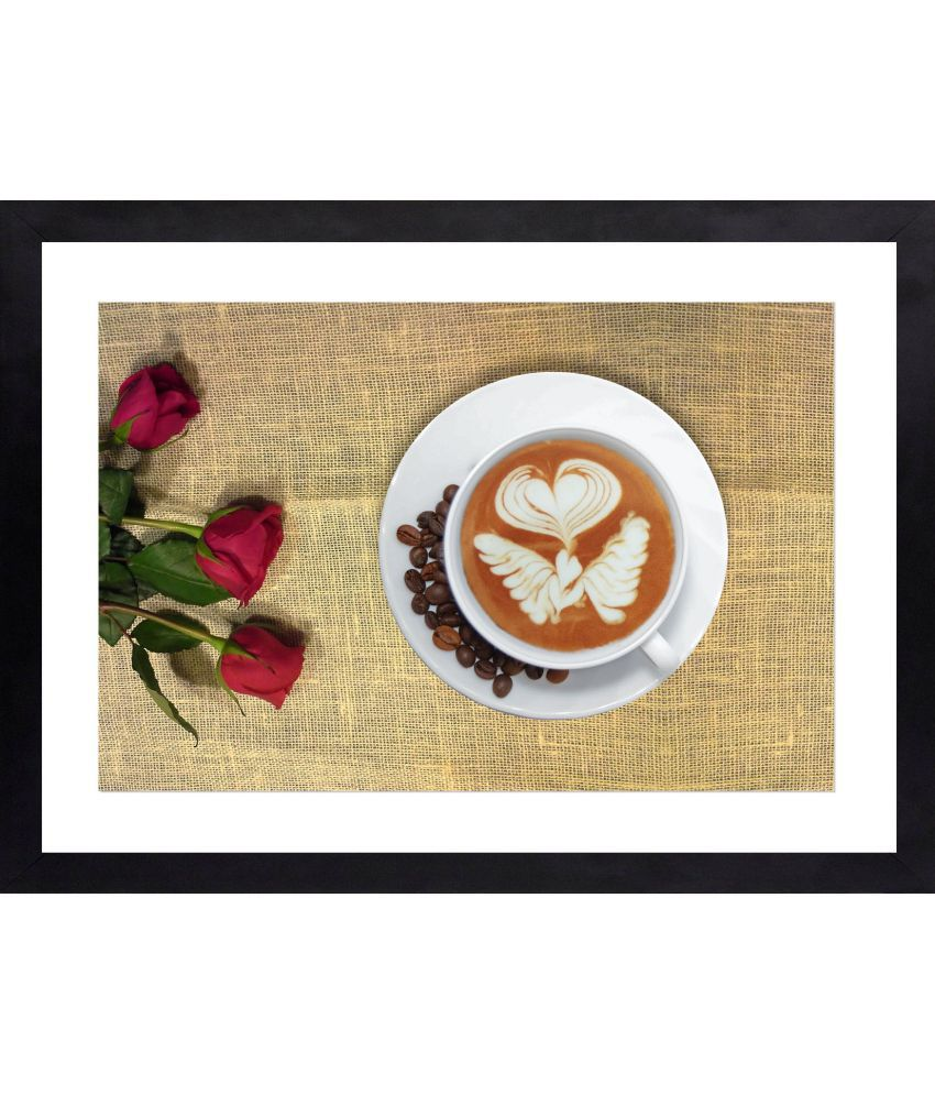 Craftsfest Coffee Cup in Still life photography Glass Painting With Frame Single Piece
