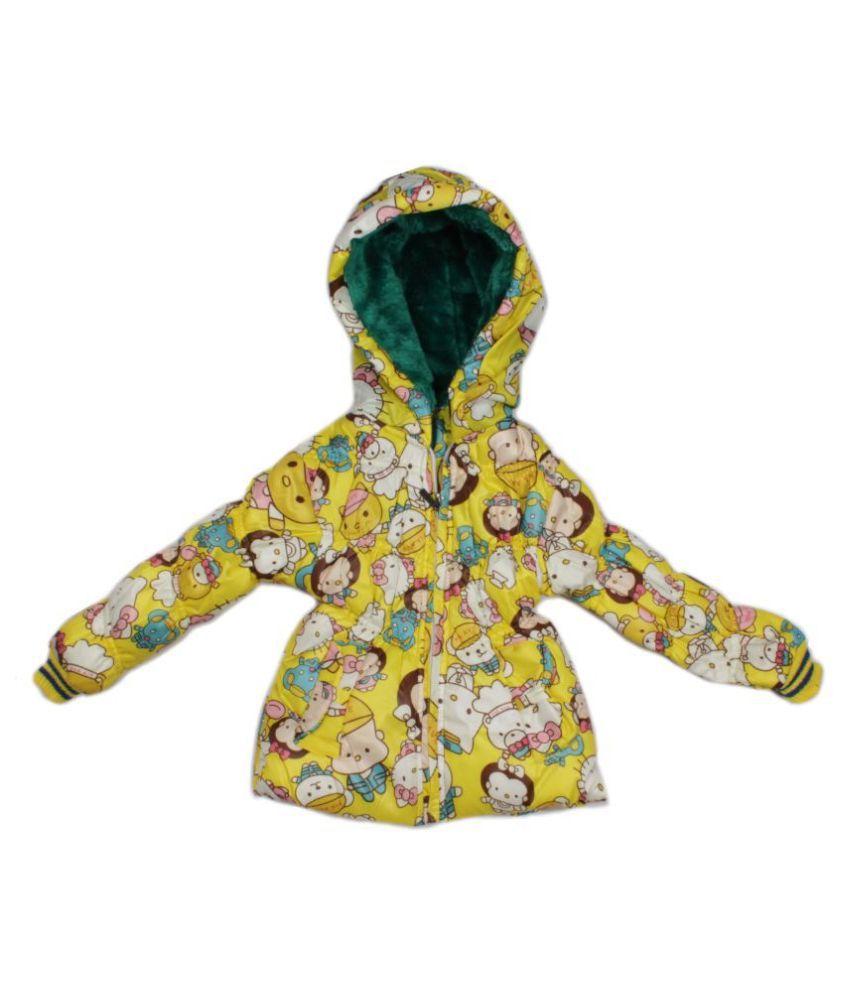 Greentree Yellow Girls Light Weight Jacket