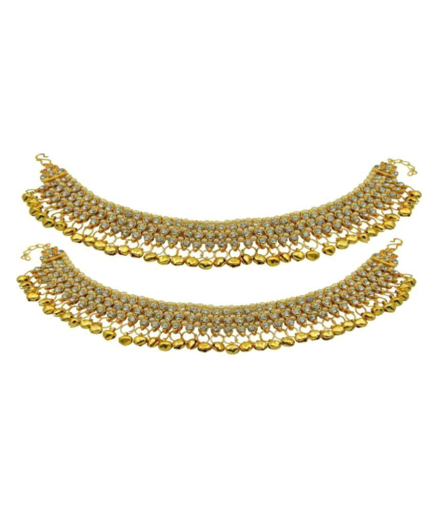 Jewels Gehna Golden Anklets