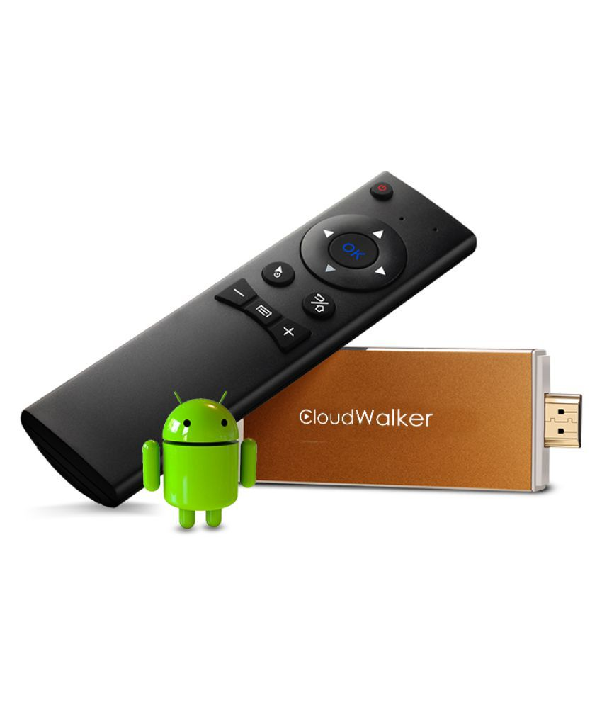 CloudWalker AI805 Smart Stick with Air Mouse & 1 year DittoTV Streaming Media Players
