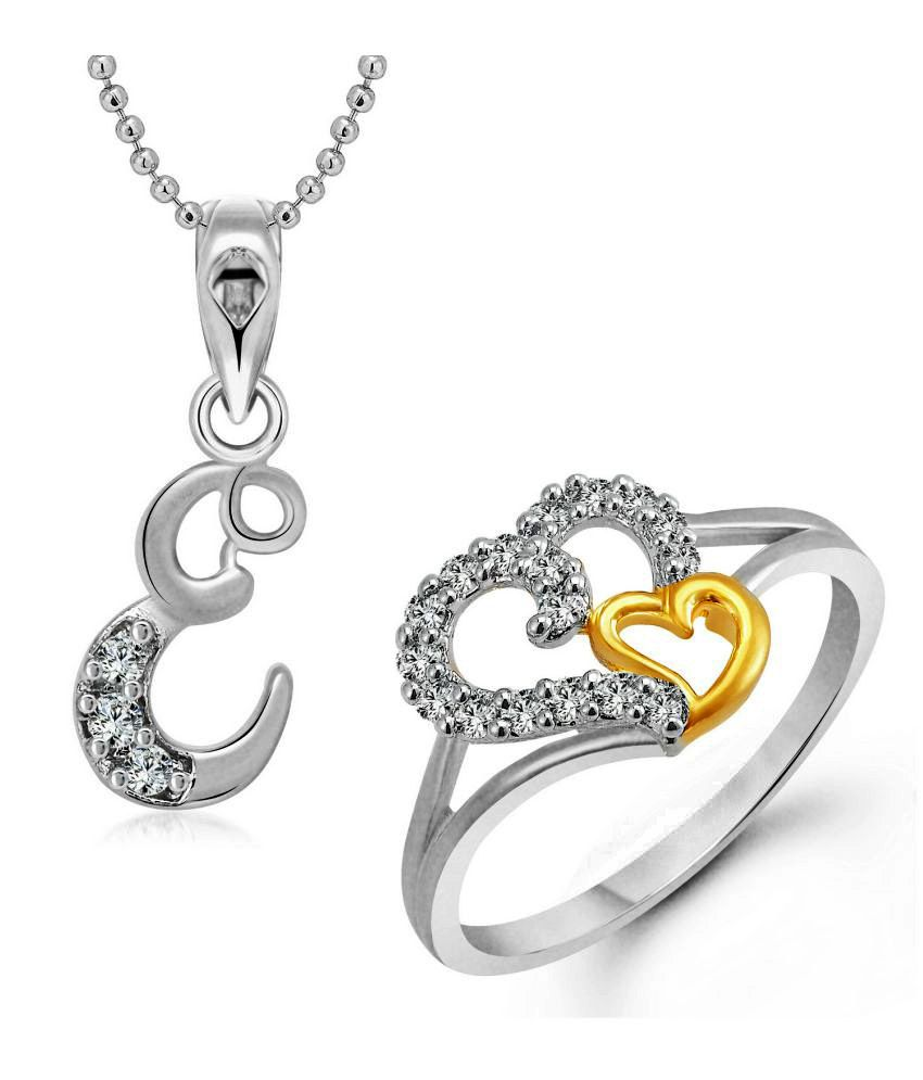 Vighnaharta Silver Alloy Ring with Pendant