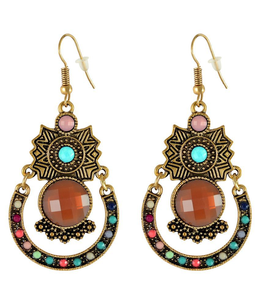 Sarah Multicolour Hanging Earrings