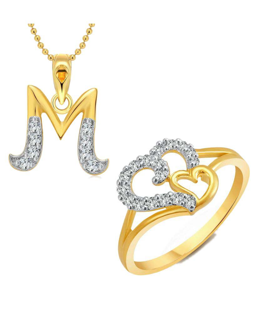Vighnaharta Golden Alloy Ring with Pendant