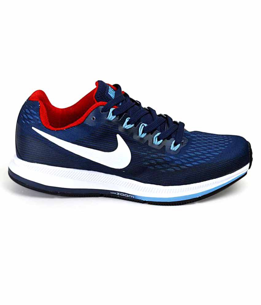 ... Nike Air Zoom Pegasus 34 Shoes Navy Blue Training Shoes ...