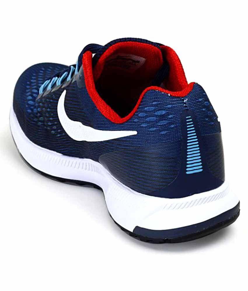... Nike Air Zoom Pegasus 34 Shoes Navy Blue Training Shoes ...