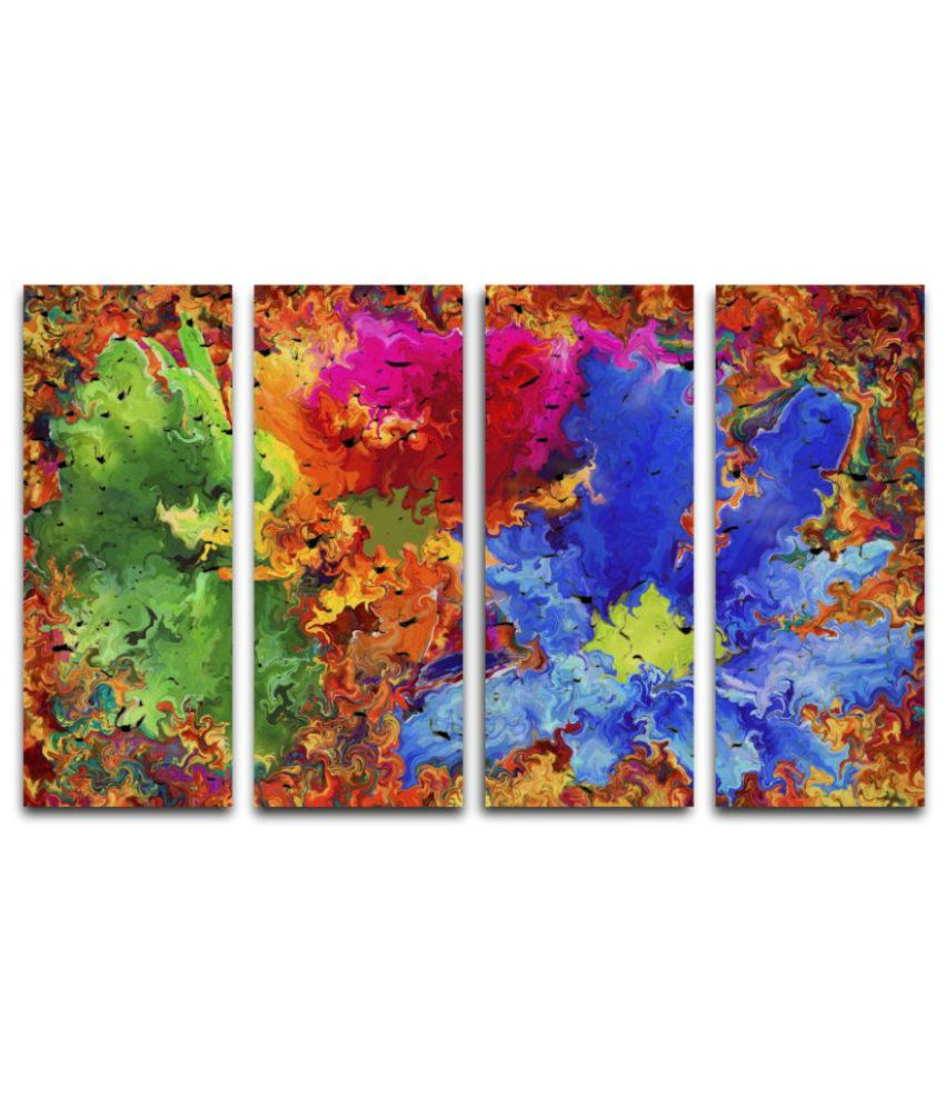 Esfore Sunboard Painting With Frame Set of 4