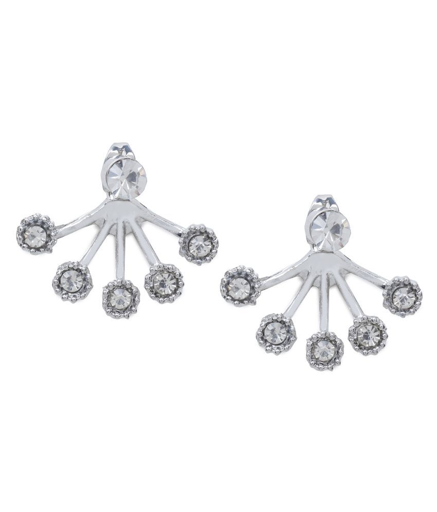 Rubans Silver Metal Stud Earrings
