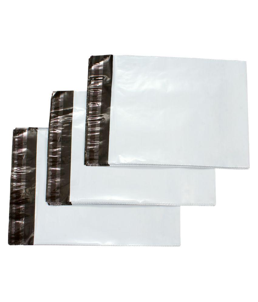 PackingKaro White Shopping Bags - 500 Pcs