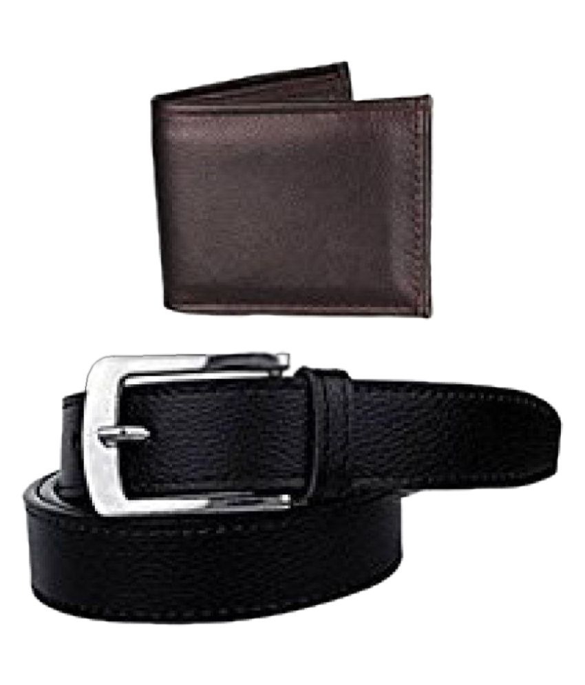 Ashish Surya Traders Black Leather Casual Belts